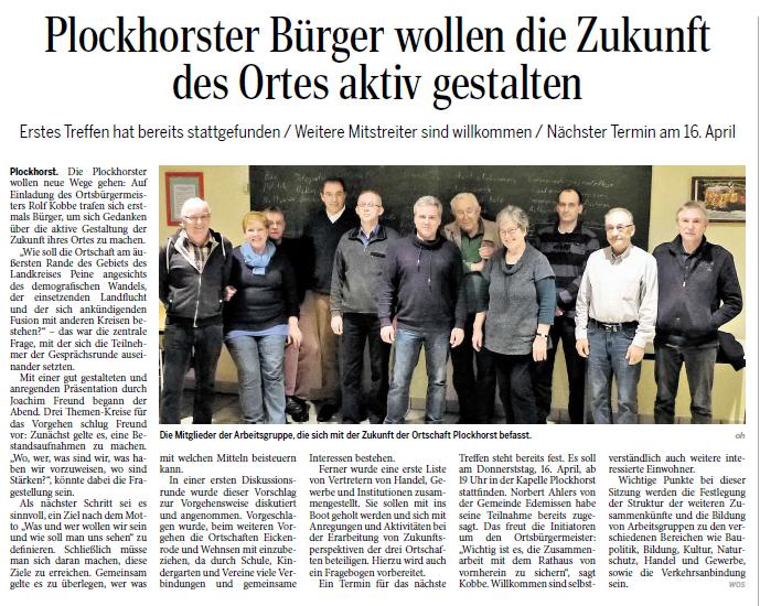 Peiner Allgemeine Zeitung 07.03.2015