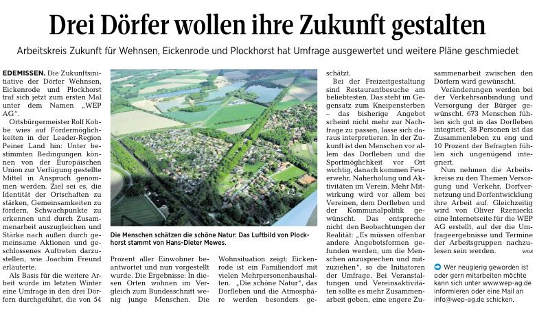 Peiner Allgemeine Zeitung  24.08.2016
