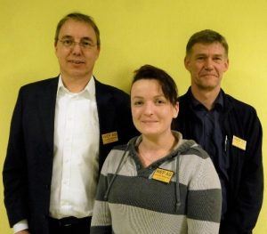 Vorstand WEP AG: 1. Vorsitzender Joachim Freund, Kassenwartin Natalia Luka, 2. Vorsitzender Jens Reupke